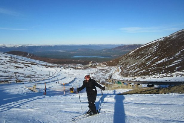 Snow day at Cairngorm Mountain, Scotland last year