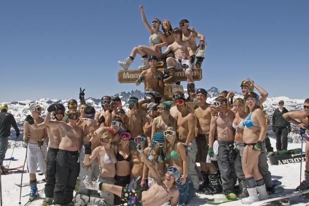 On skie toujours au mois de mai à Mammoth Mountain