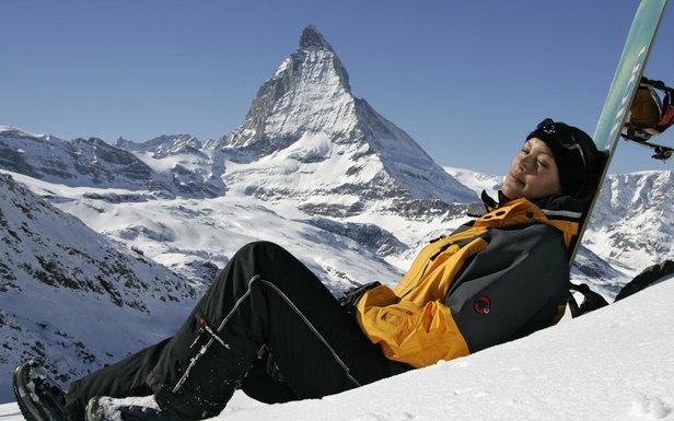 Domaine skiable de Zermatt en mai