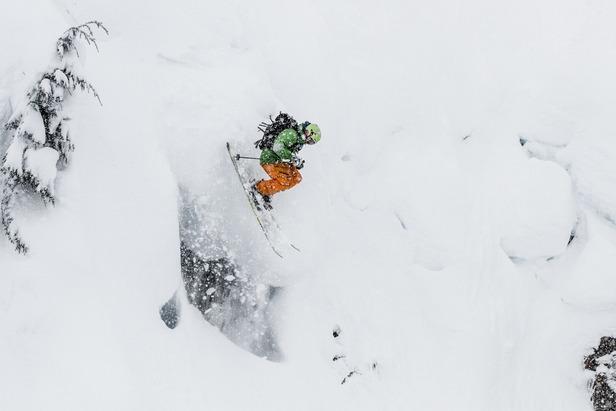 Giffin sending it at Mt. Baker. - ©Liam Doran