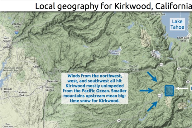 Learn how to predict snow fall totals in the Kirkwood area.  - © OpenSnow.com