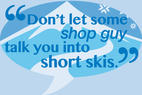 Five rules for the correct ski length