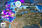 1.19 Snow Before You Go: 3 Storms & 2-4 Feet Headed for West - ©Meteorologist Chris Tomer