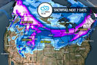 2.8 Snow Before You Go: 2-3 Storms in the Next Week ©Meteorologist Chris Tomer
