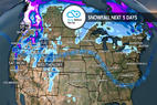 Pacific Northwest, BC to Pocket 3-6 Feet: 12.13 Snow B4U Go - © Meteorologist Chris Tomer