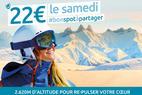 Le samedi je skie pour 22€