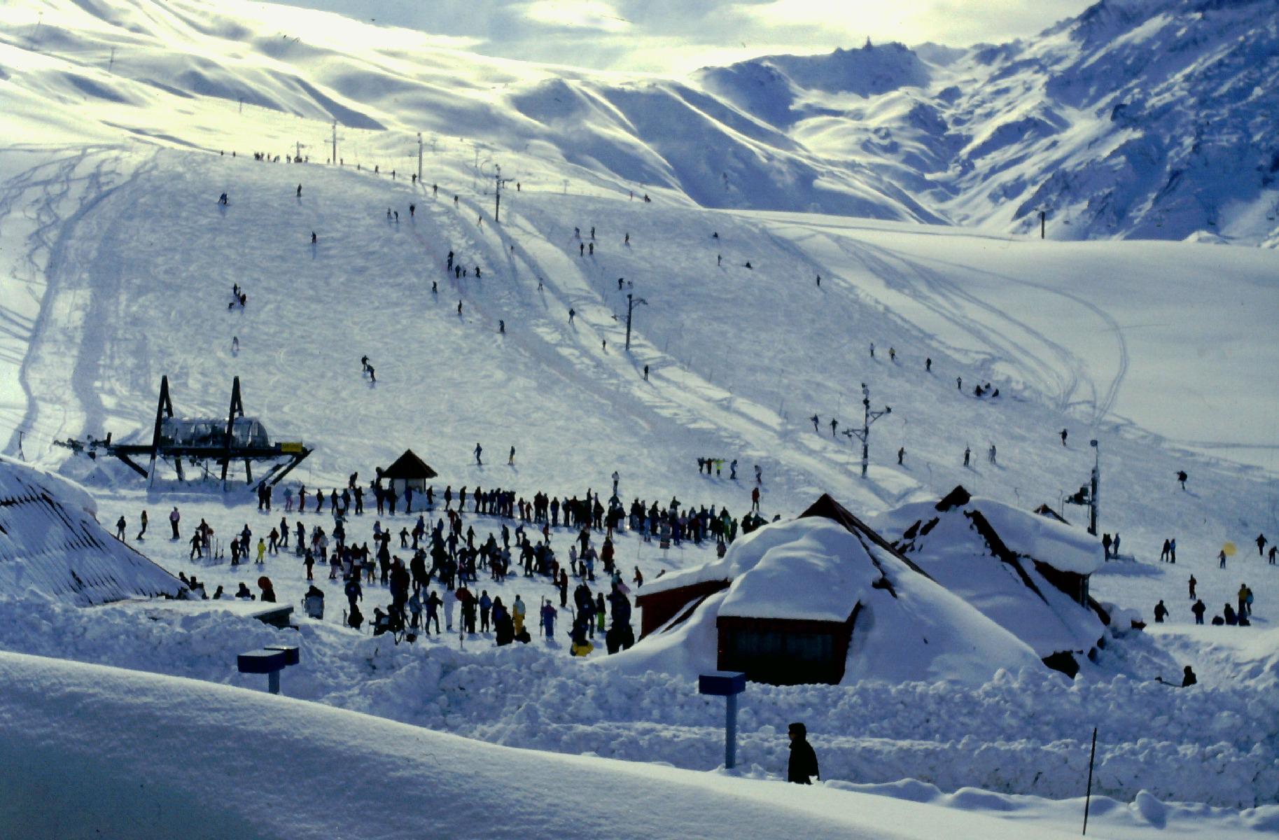 Letní lyžařské středisko Las Lenas, Argentina