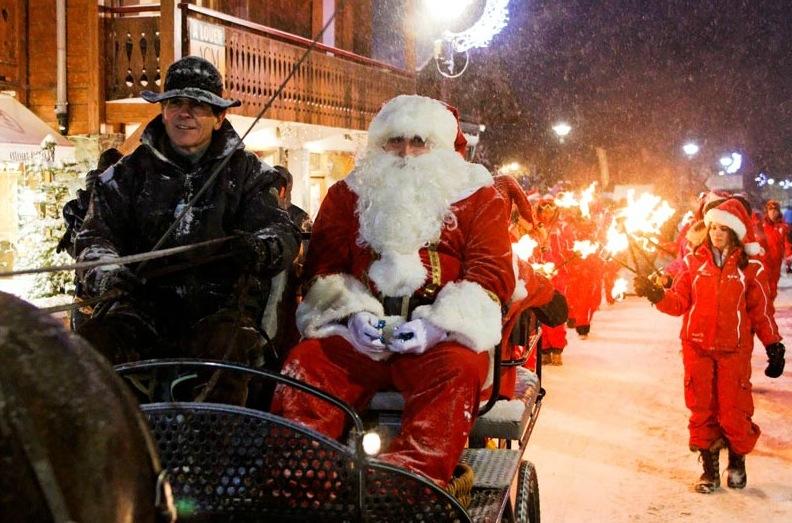 Vianočný sprievod v Les Gets
