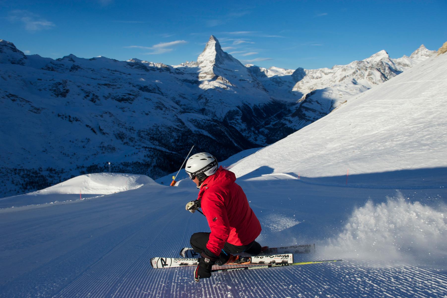 Letní lyžařské středisko Zermatt, Švýcarsko