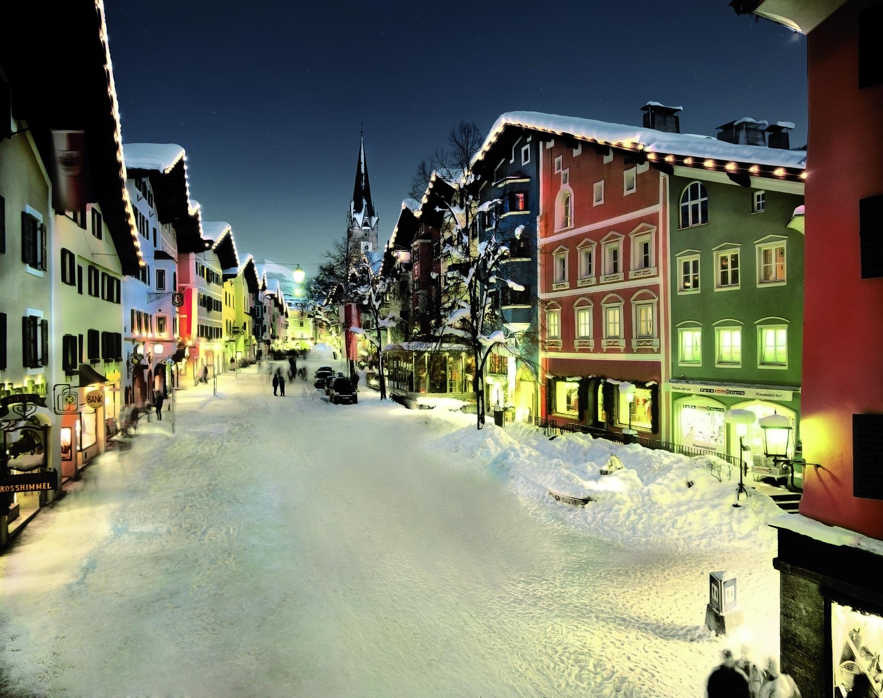 Vianoce vo fotogenickom Kitzbüheli