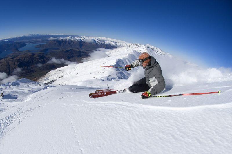 Letní lyžařské středisko Treble Cone, Nový Zéland