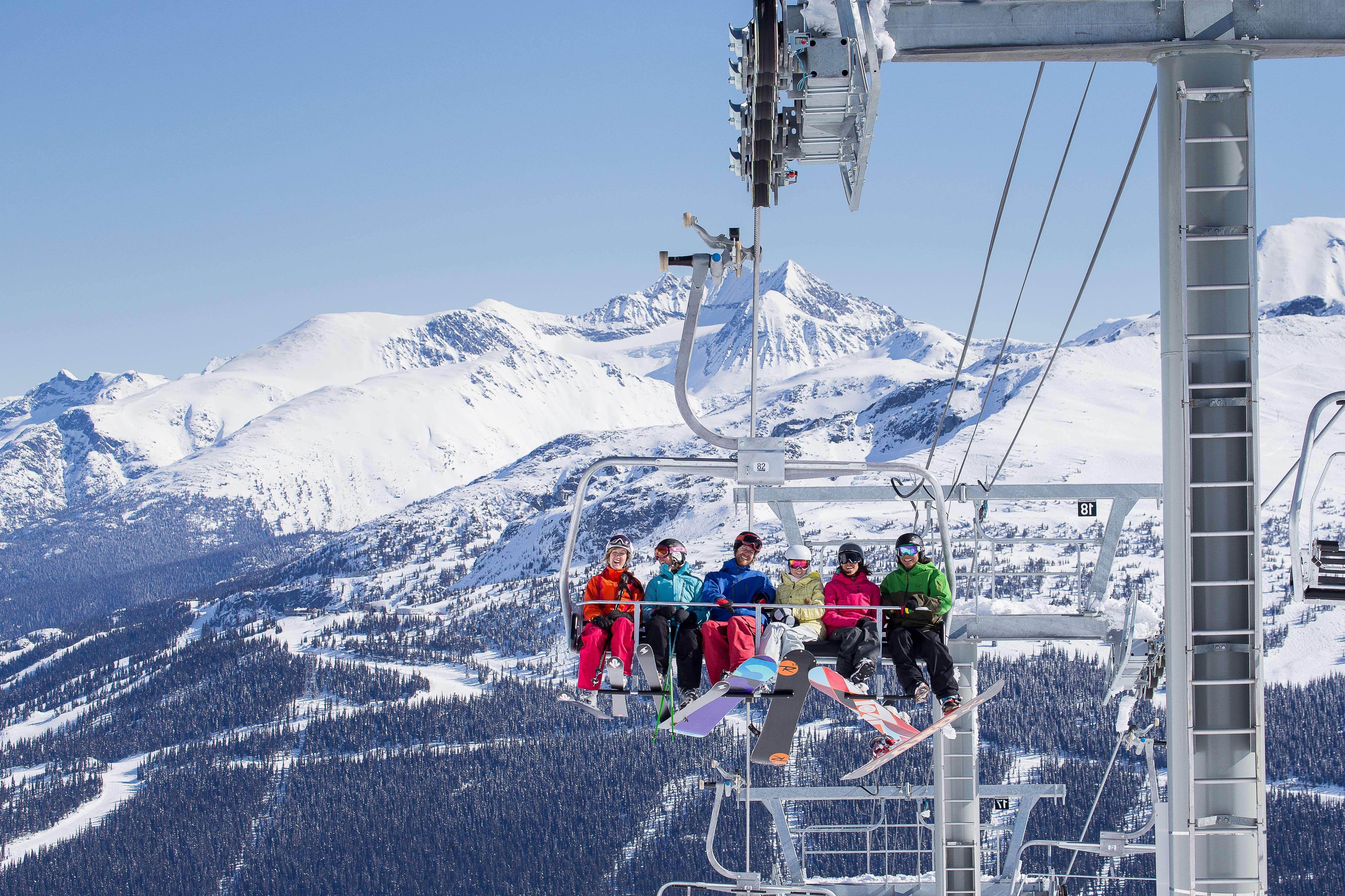 Letní lyžařské středisko na ledovci Whistler, Kanada