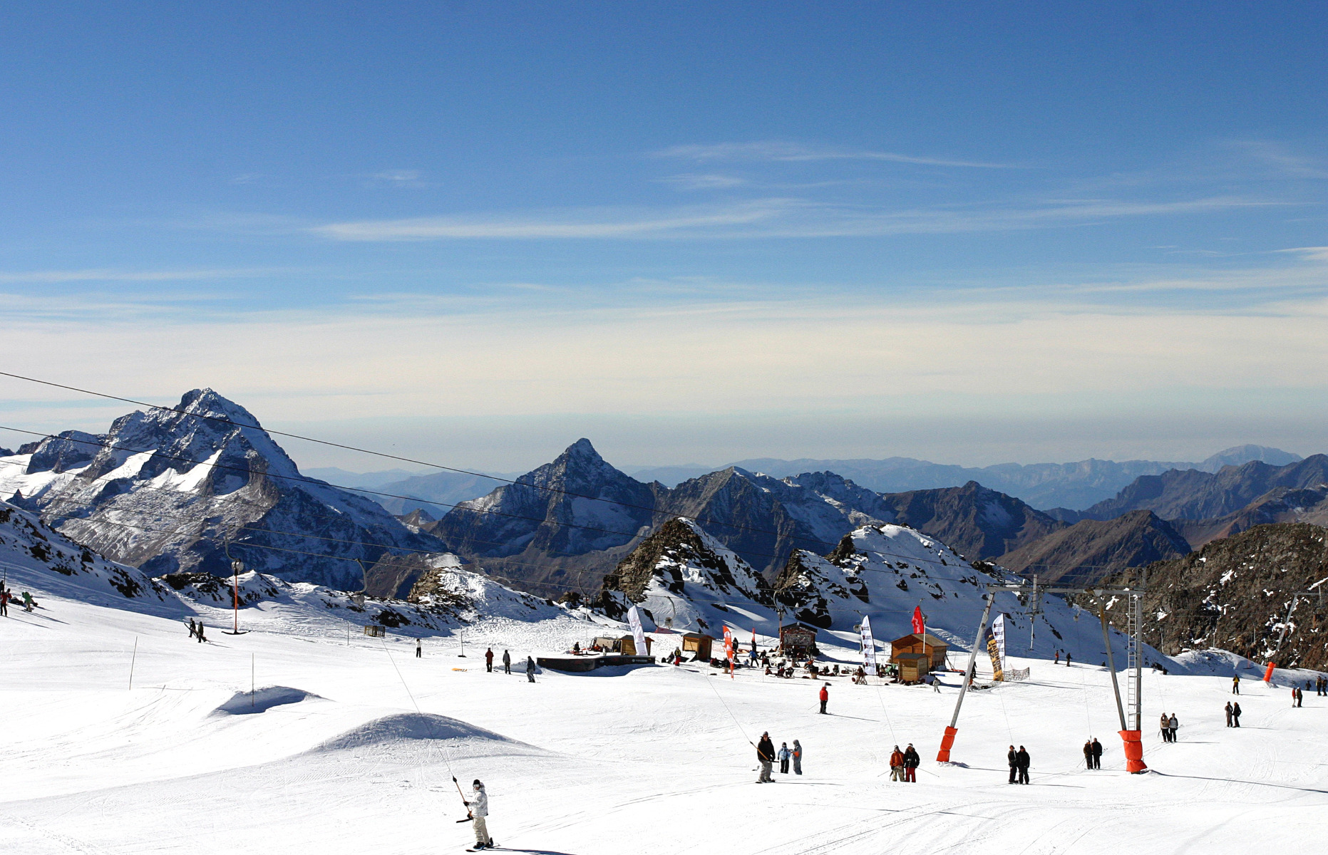 Letní lyžařské středisko Les 2 Alpes, Francie