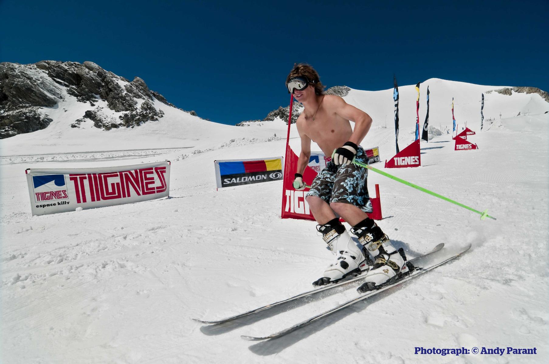 Letné lyžiarske stredisko na Grande Motte, Tignes, Francúzsko