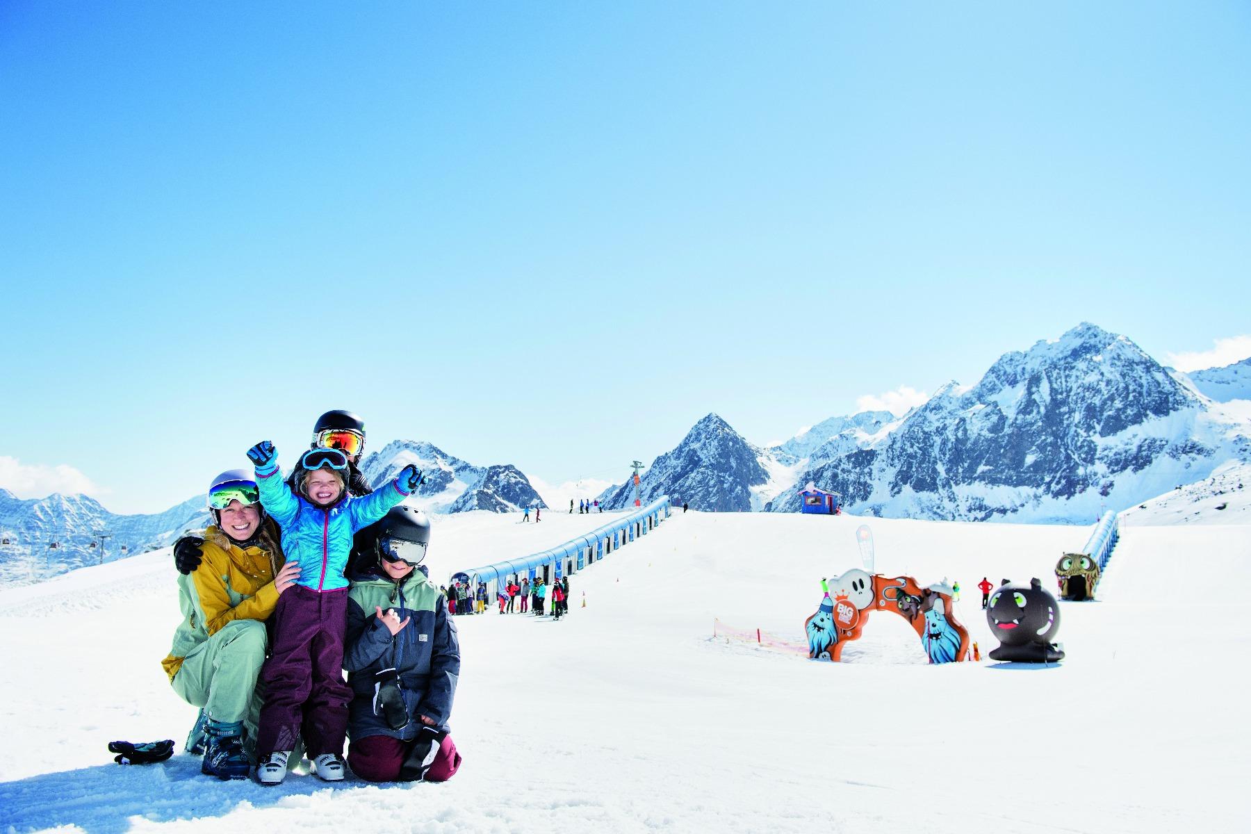 Lyžiarske stredisko na ľadovci Stubai