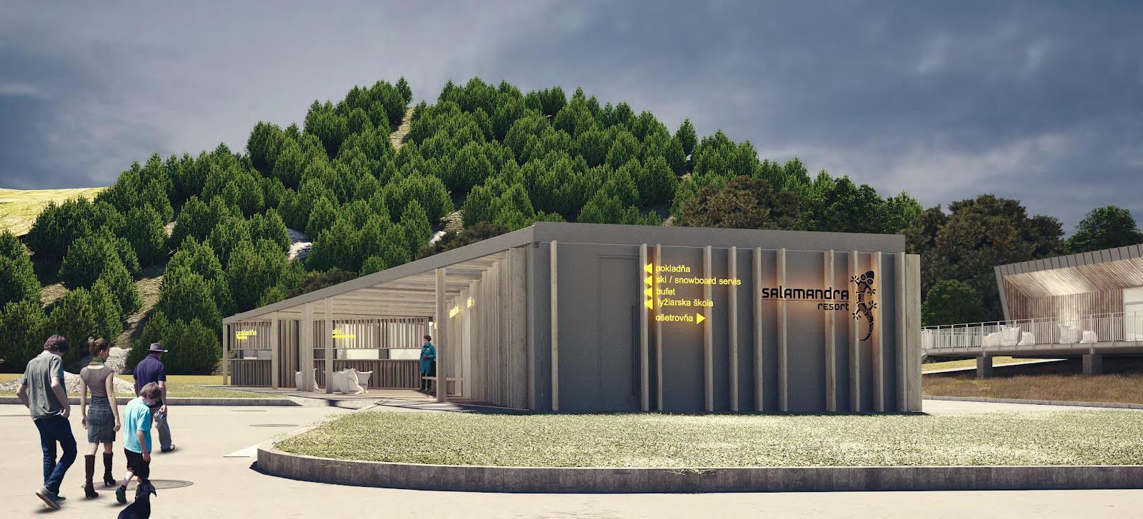 Nová multifunkčná budova v Salamandra Resorte