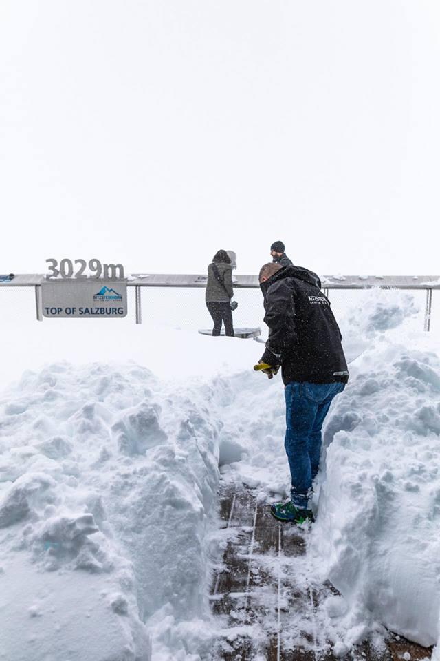 Čerstvý sníh na Kitzsteinhornu