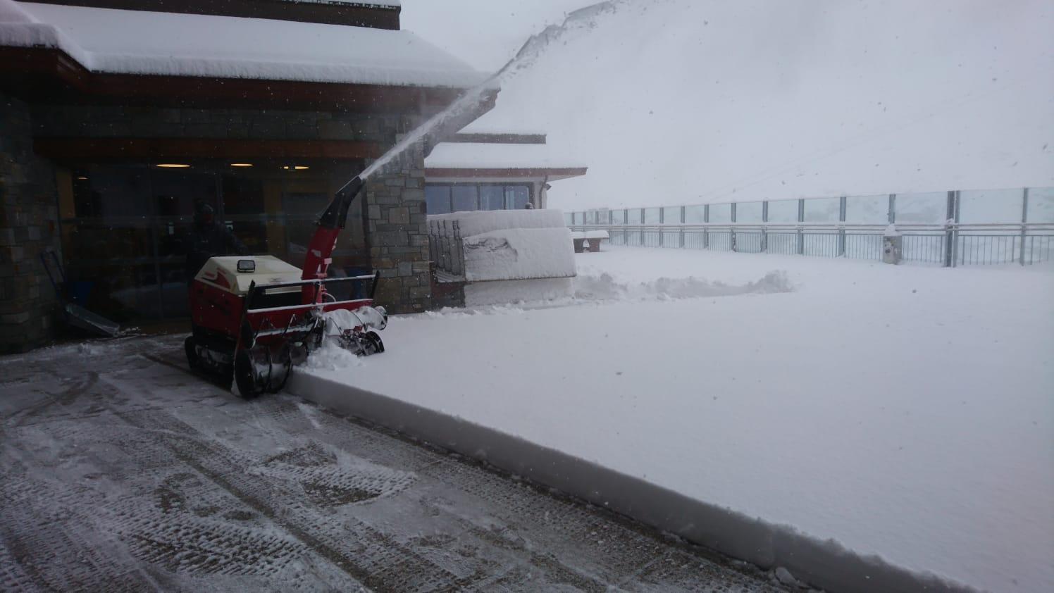 Čerstvý sníh na Hintertuxu