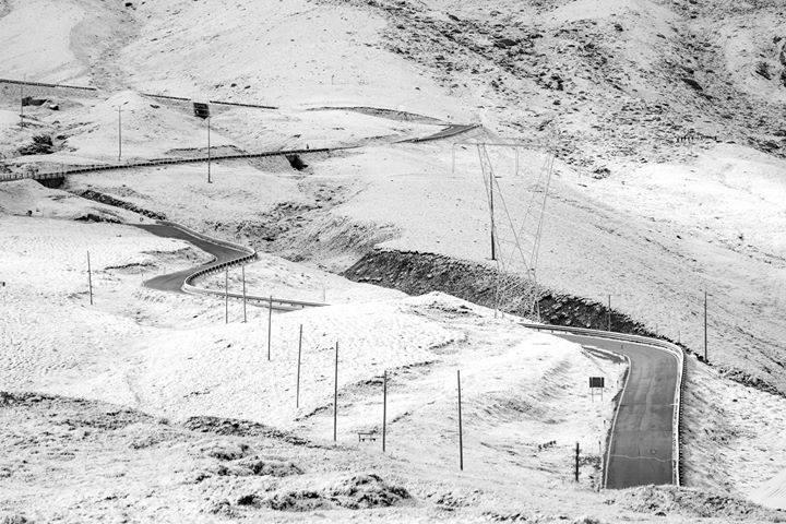 Čerstvý sníh v Passo Stelvio