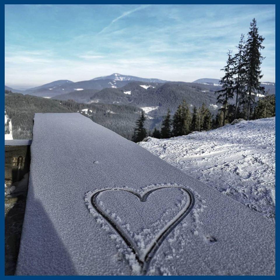 Ski Bílá - pohled na Lysou horu