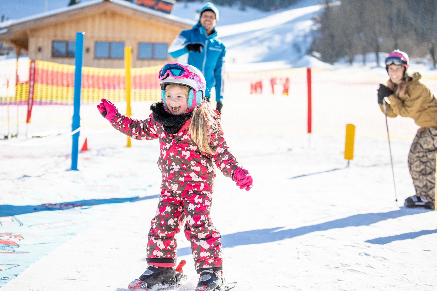 Skifahrer im Alpbachtal