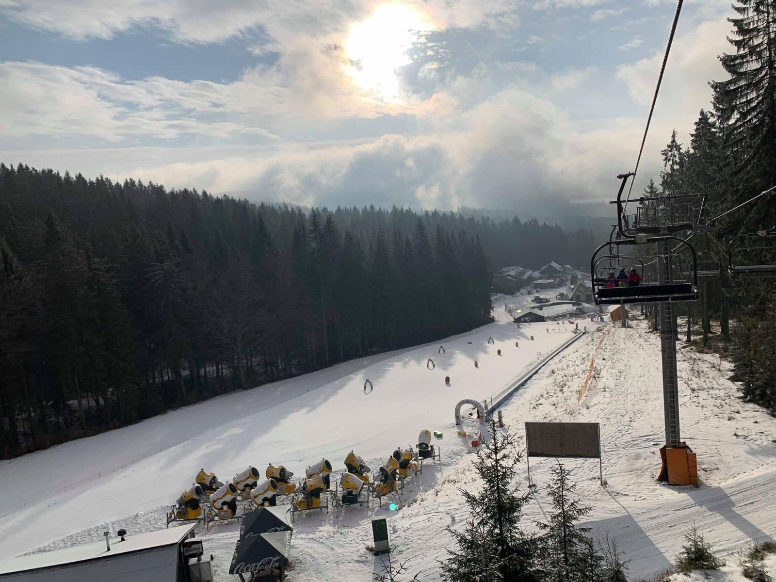 Vynikající sněhové podmínky v Říčkách v Orl.horách - 4.3.2020