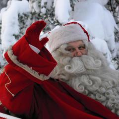 Levi, Finland meet Santa Claus