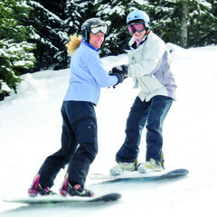 Snowboard lessons at Durango Mountain