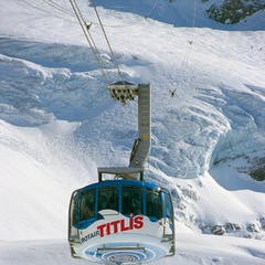 The Titlis Rotair ski lift in Engelberg, Switzerland