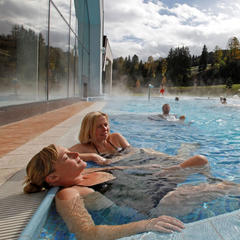 Total relaxation experience at the Therme Amadé spa in Altenmarkt