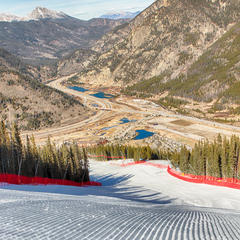 Corduroy snow at Copper Mountain. - ©Photo courtesy Tripp Fay/Copper Mountain Resort.