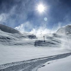 Davos-Klosters op 7 november 2013, kort voor de seizoensopening (= 15 november 2013)