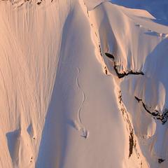 Dean Cummings' first descent Mount Francis near Valdez, AK, April 2012  - © Eric Layton