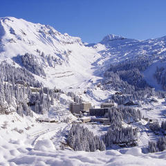 A powder-filled Flaine, France. Credit Agence Zoom