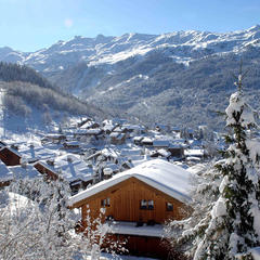 Pretty village of Meribel, 3 Vallees - ©OT Meribel / J.M Gouedard