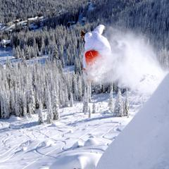 Skier catches air at Schweitzer Mountain. - ©Schweitzer Mountain Resort