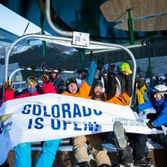 A Few Thousand Colorado Skiers & Riders get Their First Fix - ©Arapahoe Basin Ski Area