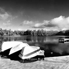 Whiteface Lodge Canoe Club in winter - ©Whiteface Lodge