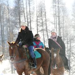 Winter horse riding in Livigno - ©Livigno.eu