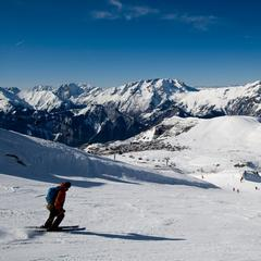 The longest ski runs in the Alps