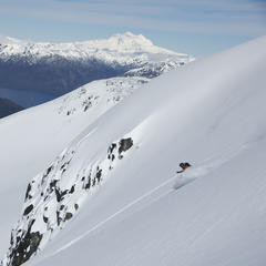 Freeriding in Patagonia. Credit PowderQuest