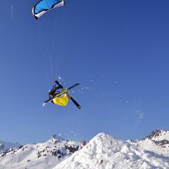 Snowkiting w Obertauern - © Florian Schmaldienst Hangonkiteboarding