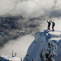 From the summit of Grey, tree runs and the classic fall-line descents that Red is famed for are there for the taking.
