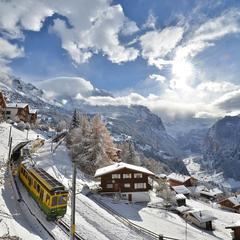 Wengen, Switzerland has one of the oldest railways in Europe. - ©Wenger-Lauberhorn