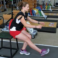 Ski Exercises: Weighted Box Squats