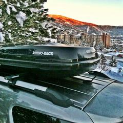 The Rhino-Rack RMFZ85 is a must for skiers and riders looking for a large-capacity, stylish cargo box. - ©Rhino-Rack