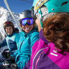 Apparel sponsor, Eider, did a fantastic job matching skier profile to outerwear line.