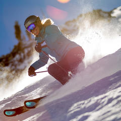 Bluebird day with powder; what more could a tester ask for on day 3? - ©Cody Downard Photography