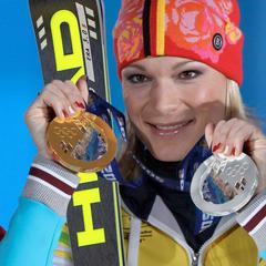 Gold und Silber im Gepäck: Für Maria Höfl-Riesch lief es bei den Spielen 2014 sehr gut - ©Head Ski