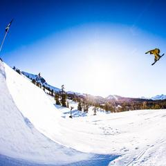 Mammoth Mountain terrain park - © Peter Morning